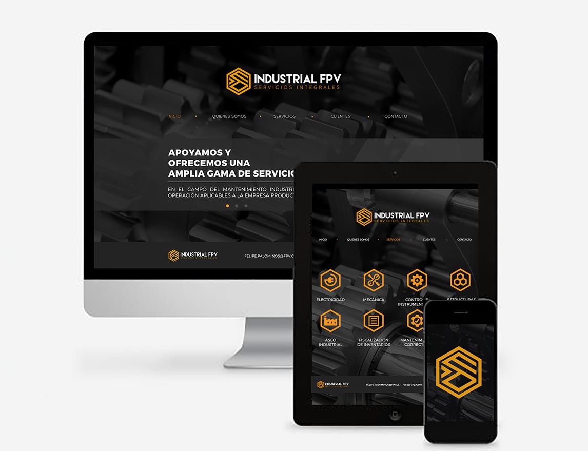 Sitio web industrial fpv